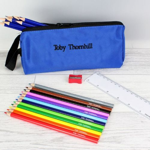 Blue Pencil Case & Personalised Content